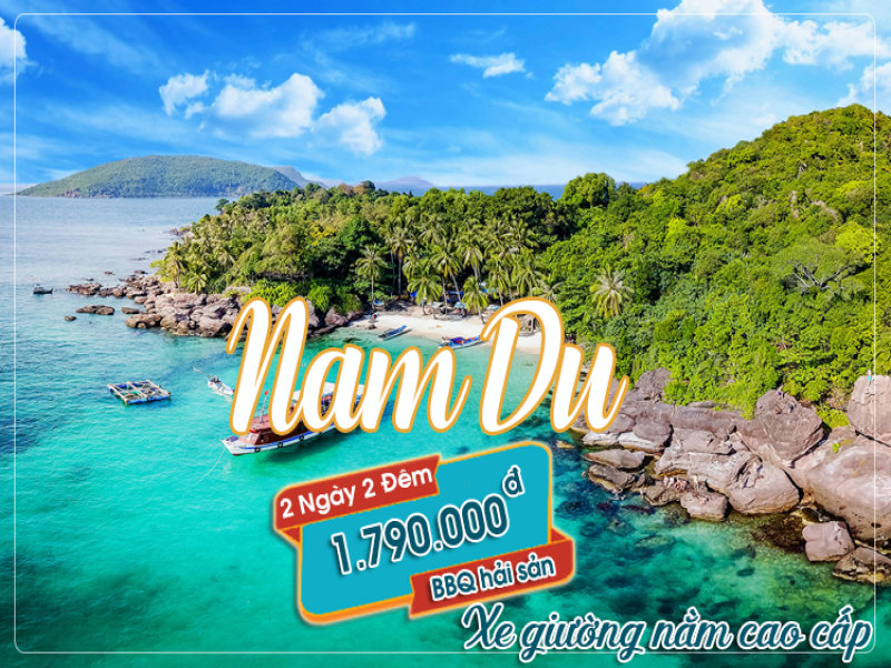 Tour di Nam Du bang xe giuong nam (2 ngay 2 dem)