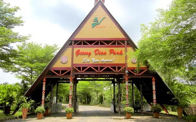 cổng khu du lịch sinh thái thác giang điền